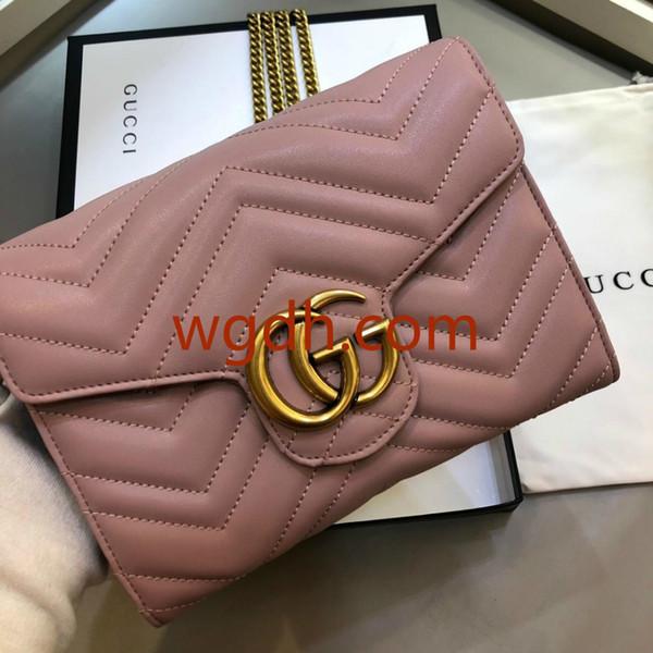 2019Marca senhora bolsa de ombro bolsa de sela mochila Messenger bag carteira moda trançada de metal cadeia logotipo mini mochila 843-5