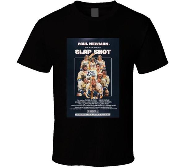 Slap Shot Fresco dos Anos 70 Comédia Do Vintage Clássico Movie Poster Fan T Shirt