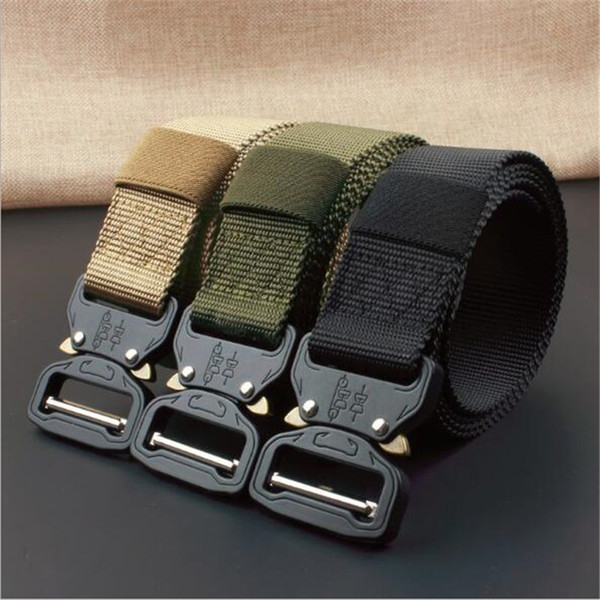 1250*38mm Tactical Belt Men Outdoor Adjustable Heavy Duty Tactical Waist Belts with Metal Buckle Nylon Belt Hunting Accessories