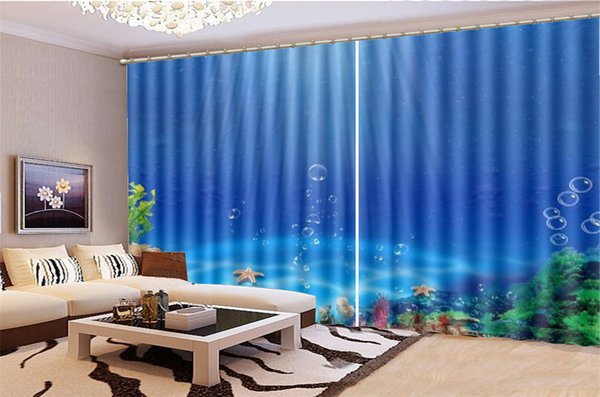 2019 3D Curtain Living Room Starfish Coral Beautiful Underwater World HD  Digital Print 3d Beautiful Blackout Curtains From Yunlin188, $194.98 | ...