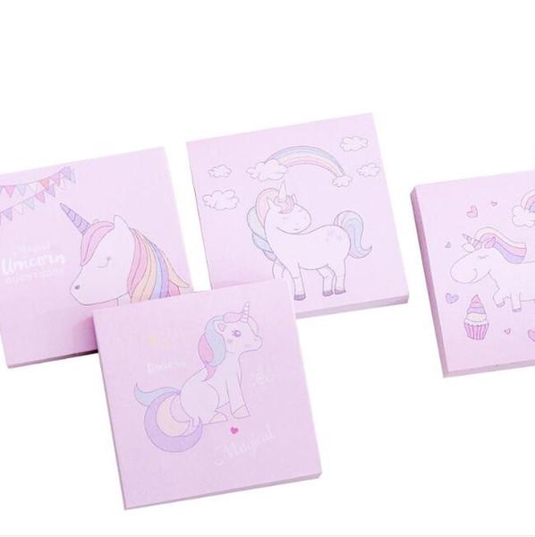 Cartoons Square Rainbow Unicorn Memo Pads Self-adhesive Sticky Notes Memo Notebooks Stationery Papelaria Escolar School Supplies