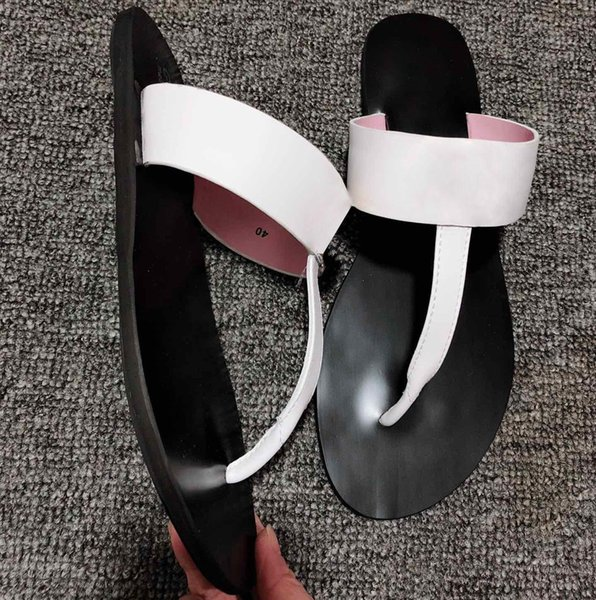 Marmont T-Strap Sandal Leather Chic Thong Sandal With Double Flat Leather Upper And Lining/Rubber G Sole Flip Flop G005