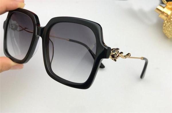 New Fashion Designer Frauen Sonnenbrille 0145 quadratischen Rahmen einfach beliebt verkaufen Stil Top-Qualität UV400 Schutz Brillen