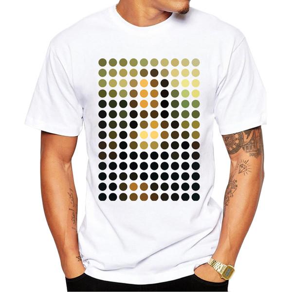 S-4XL Hommes T-shirt D'été Polka Imprimé Design De Mode Tee Hot Nouveautés Hipster Cool Tops Casual Tshirt