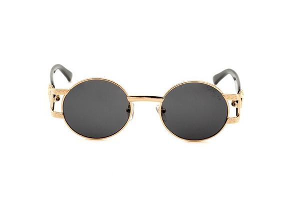 2019 New Mens Classic small Round Sunglasses steampunk Women Small Vintage Retro Mirror John Lennon Sun Glass Oculos de sol Masculino