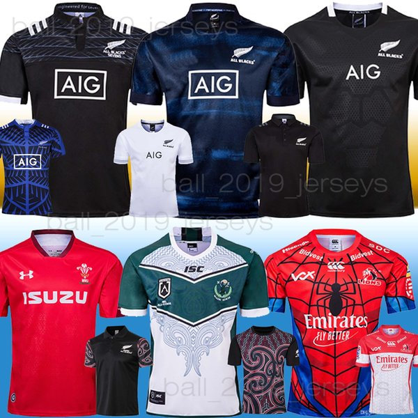 ALL BLACKS Maori RUGBY JERSEYS NEW ZEALAND WRU LIONS MAORI KIWIS Rugby Jerseys Red wales All black