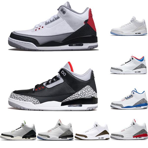 Großhandel Nike Air Jordan 3 Retro 3 3s Mens Basketball Schuhe 2019 Neue Schwarze Zement Tinker NRG Freiwurf Linie Katrina Männer Designer Trainer