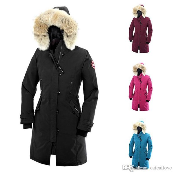 2019 canada Women goose Kensington Down Parka Coat Outdoor warm and windproof down jacket hooded jacket DHL Free Shipping