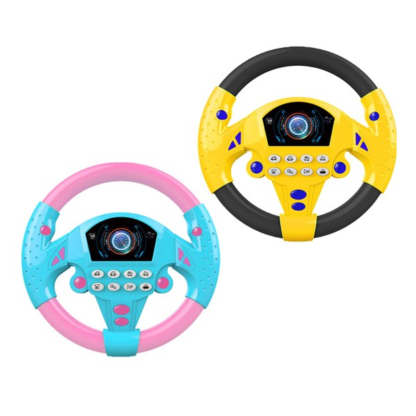 best selling 2Pieces Steer Interactive Driving Wheel, Portable Pretend Play Toy Steering Wheel with Simulated Car Sounds and Lights,for Kids 3 years +