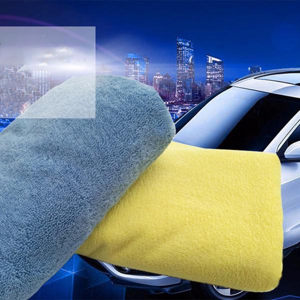 Nettoyage de voiture Serviette 40 * 40cm Bordures Car Wash Serviette haute et fournitures de nettoyage Microfibre bas cheveux