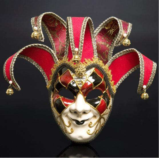 Halloween Mask Man Woman Festival Decoration Christmas Masquerade Italy Venice Whole Face Antique Clown Masks Party Supplies Favor wn65