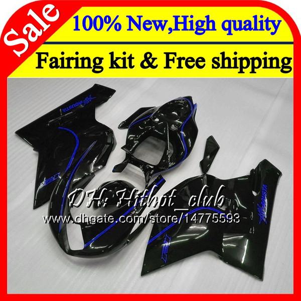 Body For MV Agusta F4 05 06 R312 750S 05 1000 R 750 1000CC 13HT16 1000R 312 1078 1+1 Blue black MA MV F4 2005 2006 05 06 Fairing Bodywork