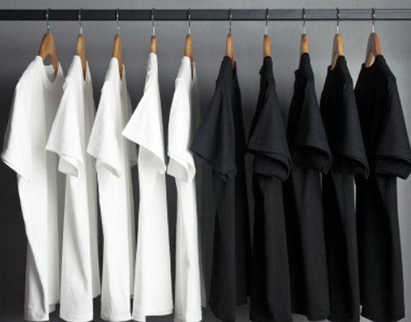 Japanisches Schwergewicht dicke weißes T-Shirt der Männer kurzer Ärmel Rundhalsausschnitt Normallack T-Shirt Art und Weise lose Baumwolle Boden Hemd