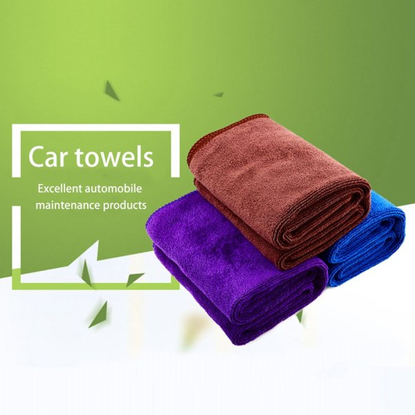 Multi Color Thick Plush Reusable Super Absorbent Car Wash Microfiber Polishing Buffing Towel Auto Car Care Cleaning Cloth