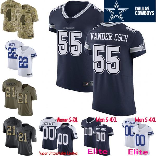 quality design 8514a 944c6 2019 100th Anniversary Custom Men Youth Women Dallas Ezekiel Elliott Dak  Prescott Jason Witten Emmitt Smith Cowboys Camo Cooper Elite Jersey From ...