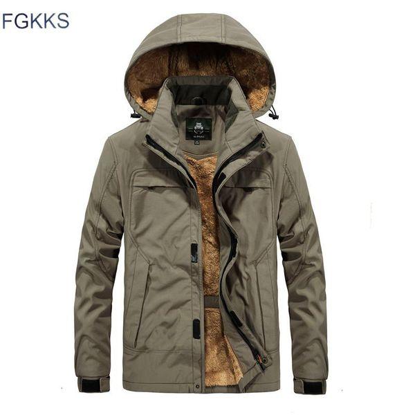 FGKKS 2018 New Mens Casual Hooded Jacket Winter Brand military Men Waterproof Clothes Men's Windbreaker Coat Male Asian size