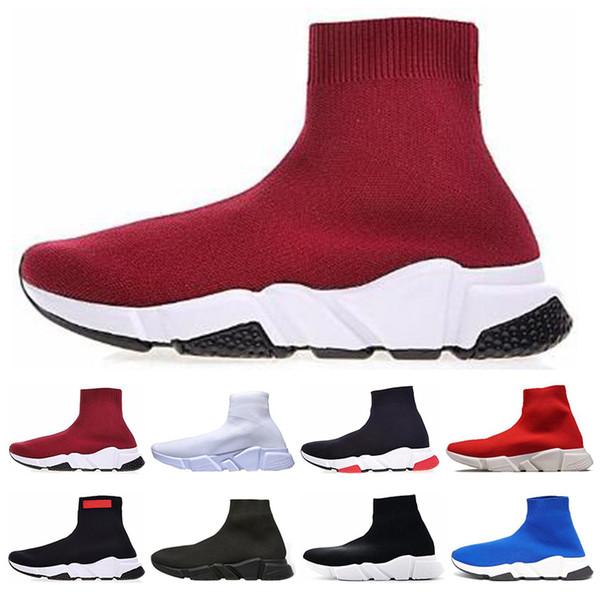 Hot Speed Trainer Männer Frauen Socke Schuhe schwarz weiß blau Glitter flache Freizeitschuhe Luxus Herren Trainer Runner Turnschuhe Größe 36-45