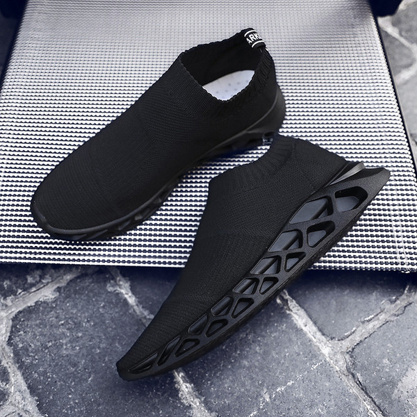 Mocassins Homme erkek Slip-on Casual Çorap Ayakkabı Nefes Rahat Sneakers Adam Yumuşak Loafer'lar Erkek Ayakkabı Chaussure Homme