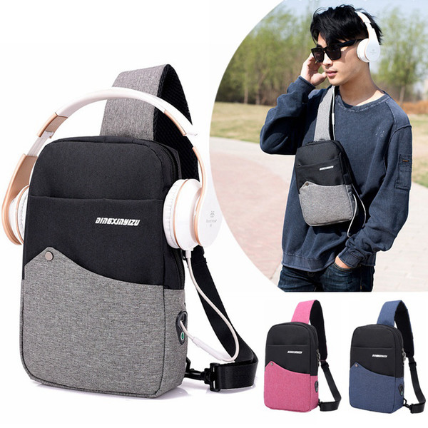 Men's Crossbody Bags Sling Chest Bag Casual Canvas Anti Theft Cross Body Bag High Quality Cross-body Shoulder Bags Chest Packs
