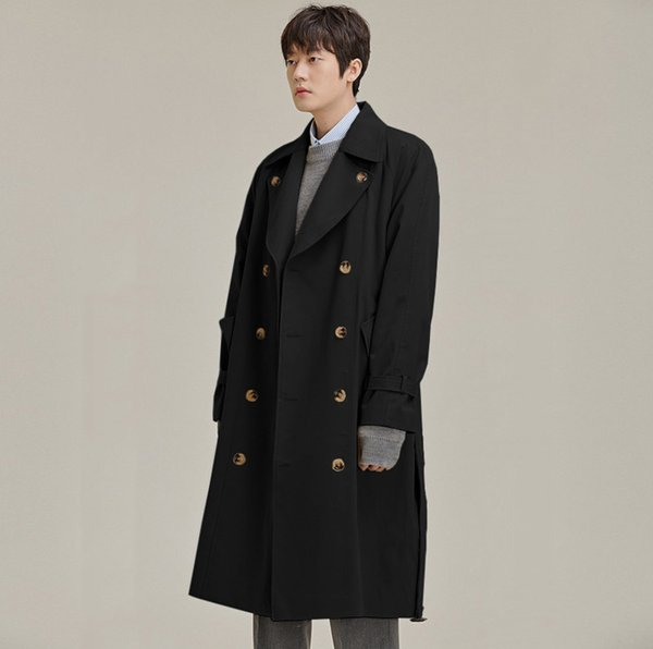 Howme Mens Stylish Ankle Length Wild Hoode Plus-Size Relaxed Fit Trench Coat