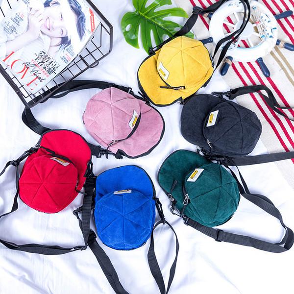 High Quality Children School Bag Plush Cartoon Baseball Cap Toy Kids Backpack Mini Cross Body Shoulder Bags Boys Girls School Bags Gift