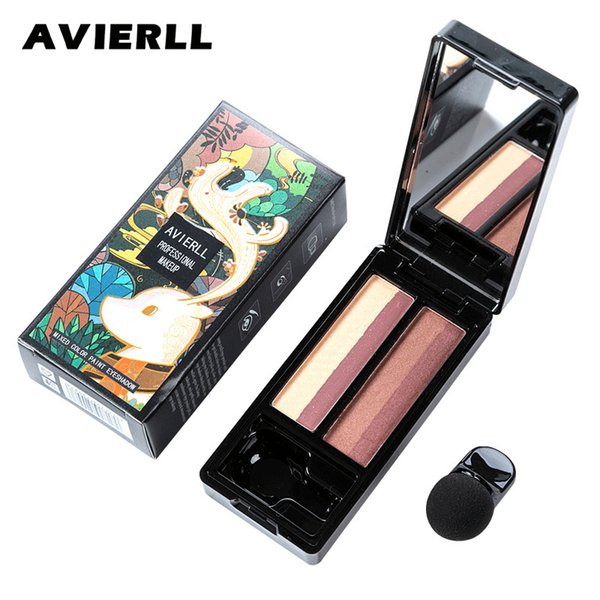 Mixed Color Paint Eye Shadow AVIERLL Lazy Double Gradient Eye Shadow 4 Colors Eyeshadow Palette Earth Color Matte Eyeshadow Nude makeup