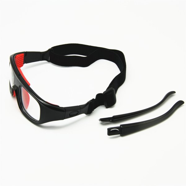 2-in-1 Basketball Glasses Optical Frame Detachable Legs & Strap Protective Sports Goggles with Clear