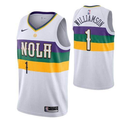 2019 Men Youth New Orleanspelicans Zion Williamson White Cityedition Swingman Nbajersey From Nba Player Jerseys 20 19 Dhgate Com
