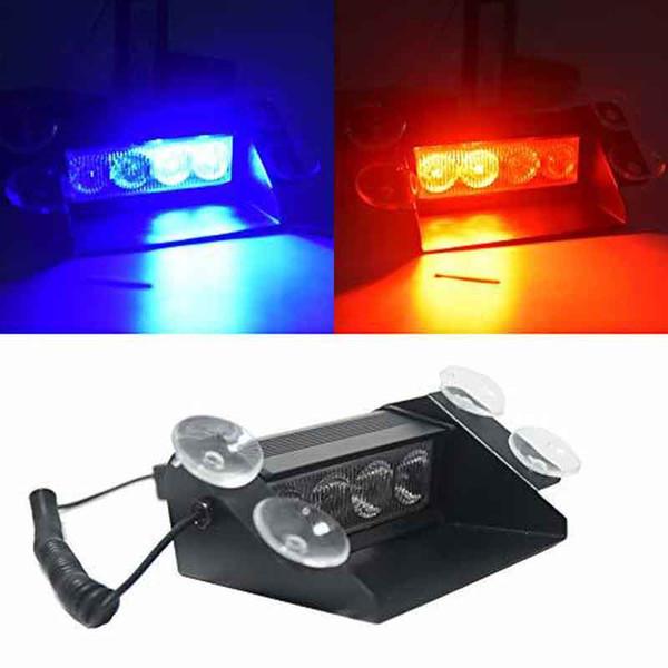 Car Lights New Car Styling 4 Led Car Police Strobe Flash Light Dash Emergency 3 Flashing Fog Lights 3 Style