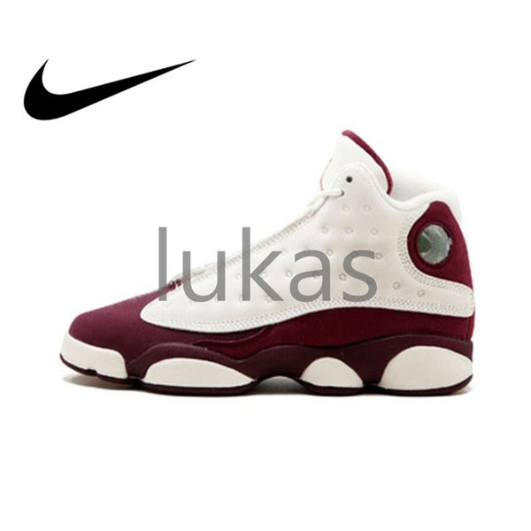 new style ab926 fc76b Original Authentic Nike Air Jordan Retro 13 GG Bordeaux Womens Basketball  Shoes Jordans Airs XIII 13s Sneakers Outdoor Waterproof Cozy 439358 112 ...