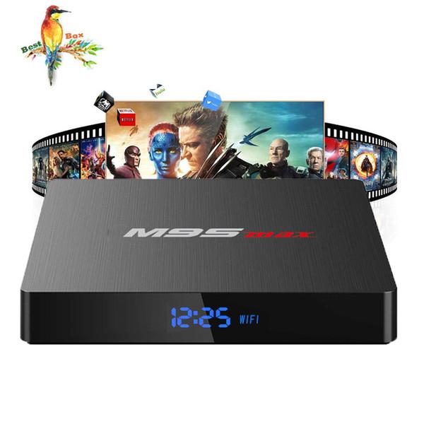 New M9S MAX Android 7.1 TV BOX 2GB 16GB Amlogic S905W Quad Core Ultra HD H.265 4K Stream Media Player Better H96 X96 T95Z TX3 TX6
