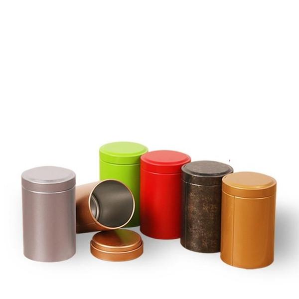 Hot Sale 55*90mm Tin Box Tea Coffee Sugar Nuts Jar Storage Boxes Metal Coins Candy Jewelry Case Organizer