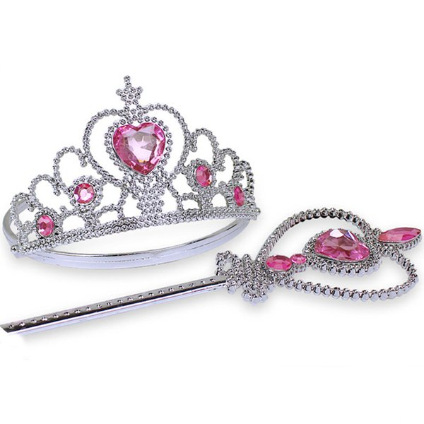 Princess Pretend Play Set - Easter Tiara Dress Up - Crowns, Wands, and Jewels - Girls Costume Party Favors