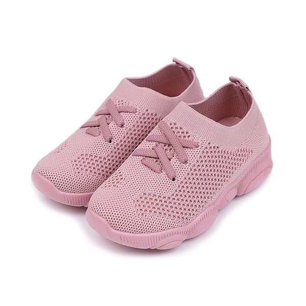 New autumn children's shoes wholesale breathable flying fabric boys'sports shoes, children's boys and girls' leisure net shoes