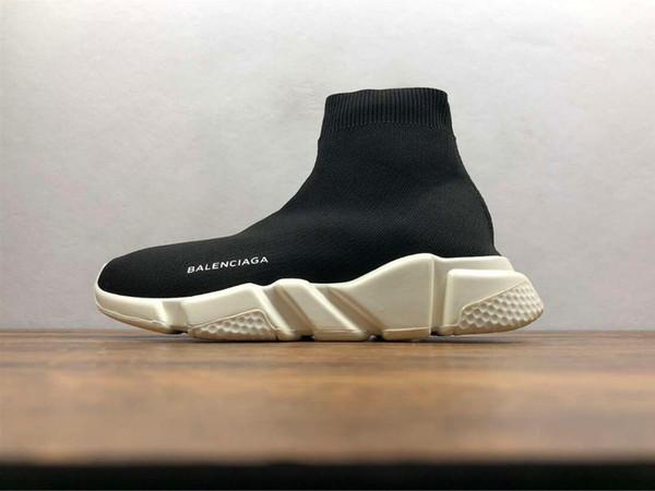 Nom Marque de haute qualité Chaussures Casual Chaussures de mode plates Bottes Femme Nouveau Slip-on Élastique Tissu Vitesse Trainer Homme Chaussures de Sport À L'extérieur 36-45