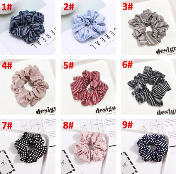Fashion Popular Hair Accessary plaid Stripped Polka Dot hairband with big flexibility hair Band Exquisite Hair Accessories mix design BY0786