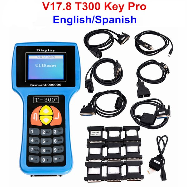 New Arrival V17.8 T300 T300+ Key Programmer English Version