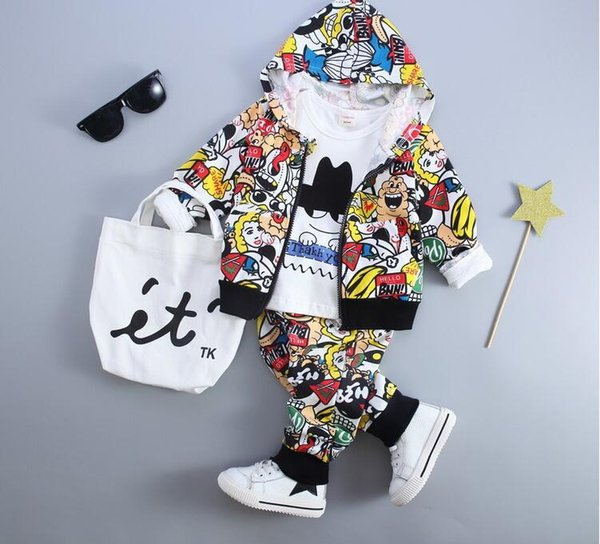 Spring and autumn children's clothing Suit Boys Outfit bow tie three piece set casual pants Boy Suit Toddler Newborn Set Baby Wear 003