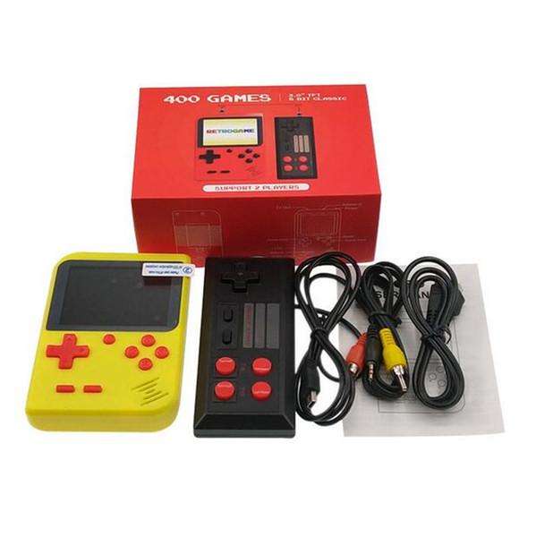 MINI Portable Retro Handheld verdoppelt Spielekonsole kann 400 Spiele 8-Bit-3,0-Zoll-LCD-Farb-Farb-Kinderspielspieler speichern