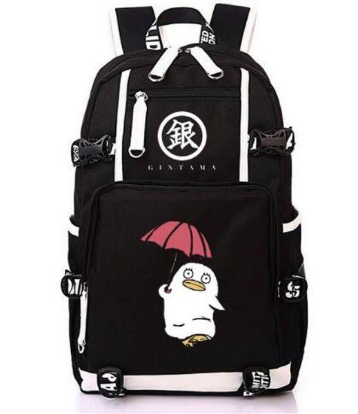Japanese anime GINTAMA backpack women student schoolbag bookbag canvas men printing Sakata Gintoki fans color large laptop bag