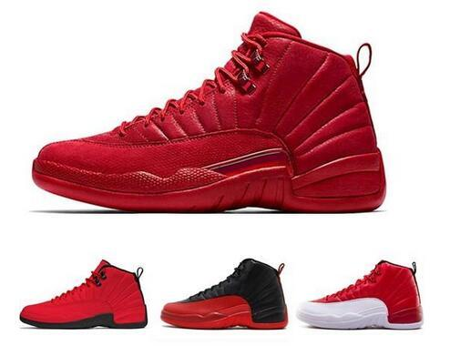Best Quality 12 12s White Gym Red Michigan Dark Grey Mens Basketball Shoes Taxi Blue Suede Flu Game CNY sneakers With Box