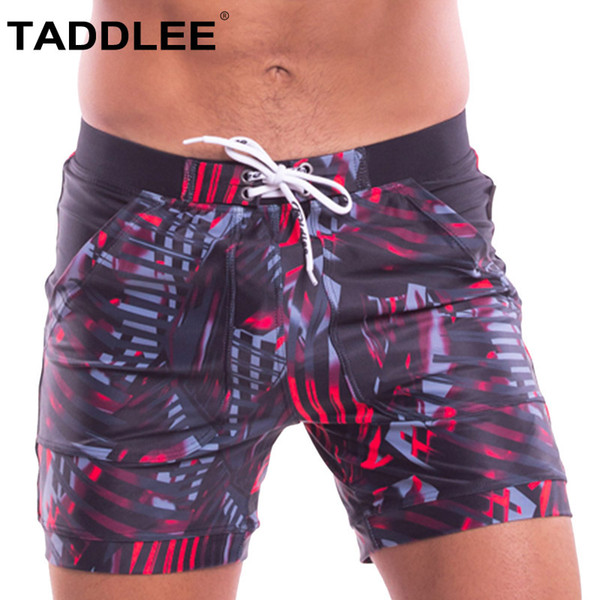 taddlee brand men's swimwear swim brief boxer swimsuits men short swim shorts trunks bikini bathing suits square cut gay