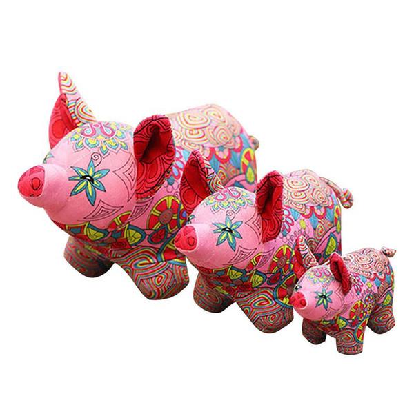 Cute Pig Plush Toy Stuffed Animals Super Soft Zodiac Pig Red Piggy Festive Piglet Dolls China 2019 New Year Gifts size 18-38cm
