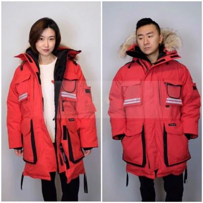 Men Parkas WINTER CANADA SNOW MANTRA-3 GOOSE Down & Parkas WITH HOOD/Snowdome jacket Brand Real Raccoon Collar White Duck Outerwear & Coats