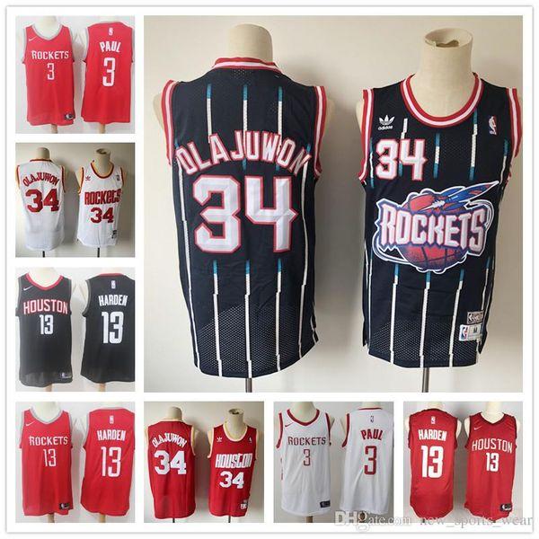 online retailer a1364 668d3 2019 Houston Jersey Rockets Olajuwon Mitchell 34 James 13 Harden Chris 3  Paul Retro Mesh Basketball Jerseys From New_2018_shops, $19.48 | DHgate.Com