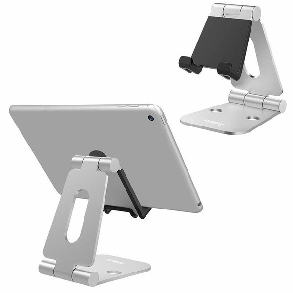 Nulaxy Mobile Phone Holder Stands Aluminium Alloy Dual Hinge Adjustable Phone Stand Foldable Desk Holder For Ipad For Iphone X 8 T190625