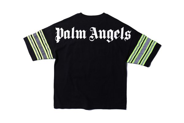 2019ss PA Logo Print 30 Embroidery Women Men Sleeve Striped T shirts tees Hiphop Streetwear Men Cotton T shirt For Summer