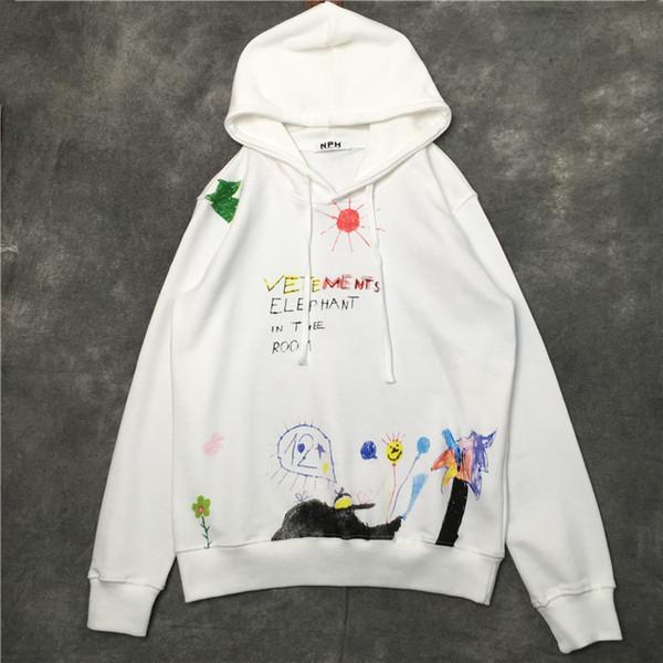 mens designer hoodies giv new fashion brand luxury Hand-painted graffiti block hoodies and guards