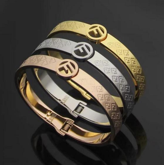 Новое прибытие FF браслеты высшего качества марки 316L Titanium стальной браслет стиль письма для женщин браслет венчания способа подарка ювелирных изделий
