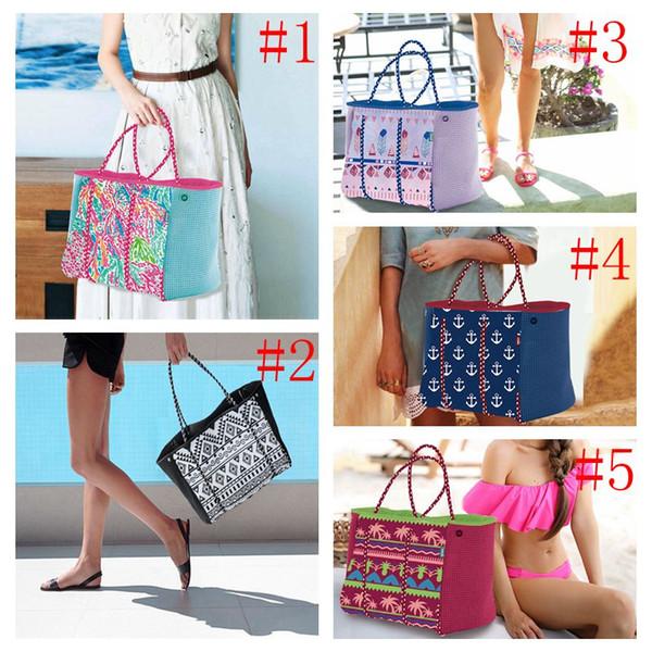 Diseñador-Nuevo Trendy Beach Bag Yoga bolso de mano deportivo Neopreno Bolsa de playa multiusos Fashion Summer Lady Handbag